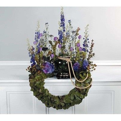 Purple and Lavender Wreath Tribute Flowers - Flowers by Pouparina