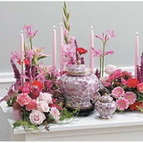 Pastel Color Flowers Sympathy Tribute with Candles - Flowers by Pouparina