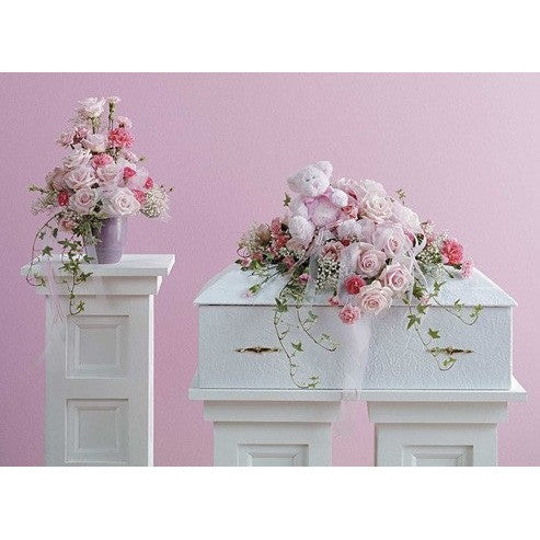 Baby Pink Funeral Package - Flowers by Pouparina