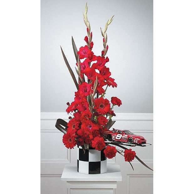 Car Racing Sympathy Basket - Flowers by Pouparina