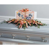Pastel Colors Family Sympathy Casket Spray - Flowers by Pouparina