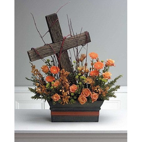 Flowers Garden and Cross Tribute - Flowers by Pouparina