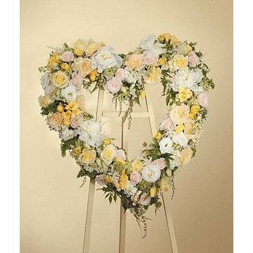 Pastel Colors Heart Handing Spray - Flowers by Pouparina