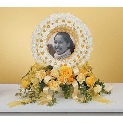 Yellow Flowers Sympathy Tribute Frame - Flowers by Pouparina