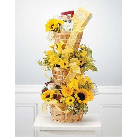 Flowers and Goodies Tower for Funeral Occassions - Flowers by Pouparina