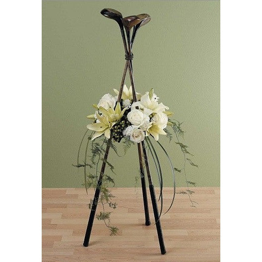 Golf Player Flowers Sympathy Standing Spray - Flowers by Pouparina