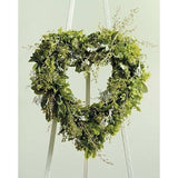 Green Leaves and Flowers Heart Standing Spray - Flowers by Pouparina