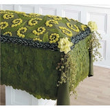 Salal Leaves, Fern and Buttons Sympathy Casket Blanket - Flowers by Pouparina