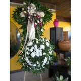 Sympathy Cross w/ Orchids - Flowers by Pouparina