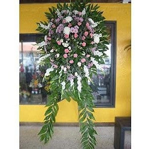 Sympathy Cross w/ Orchids