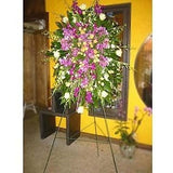 Orchids and Roses Standing Spray - Flowers by Pouparina