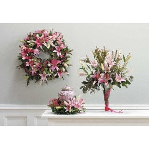 Pink Flowers Funeral Package - Flowers by Pouparina