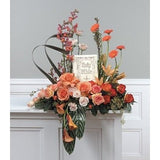 Religious Orange Flowers Sympathy Tribute - Flowers by Pouparina