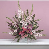Pink Sympathy Flower Basket - Flowers by Pouparina