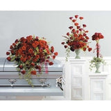 Red Sympathy Flowers Package - Flowers by Pouparina