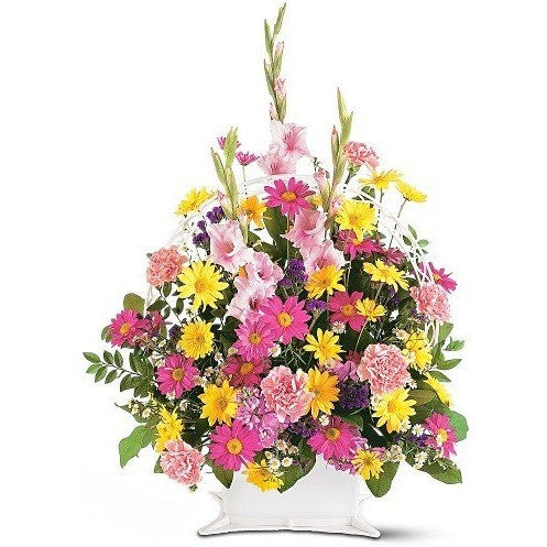Spring Remembrance Basket - Flowers by Pouparina