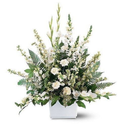 White Expressions Basket - Flowers by Pouparina