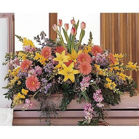 Blooming Glory Casket Spray - Flowers by Pouparina
