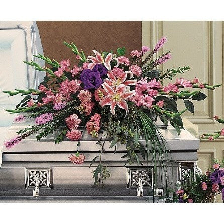 Triumphant Casket Spray - Flowers by Pouparina
