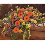 Summer Sentiments Casket Spray - Flowers by Pouparina