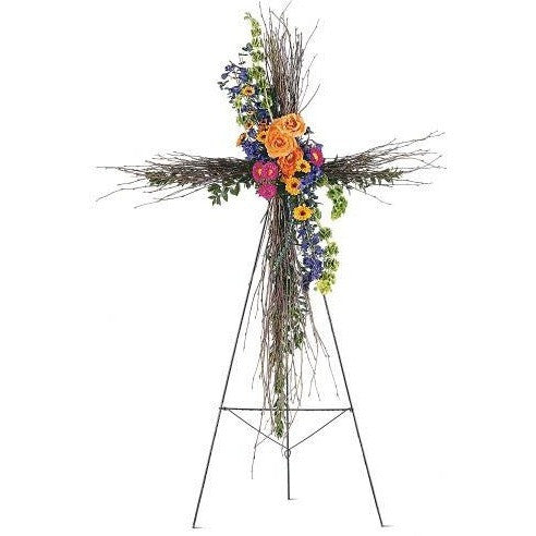 Birch Compassion Cross - Flowers by Pouparina