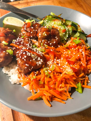 Pork Teriyaki Meatballs - Hello Fresh