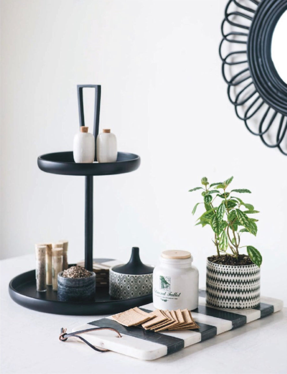 Contemporary Tiered Tray