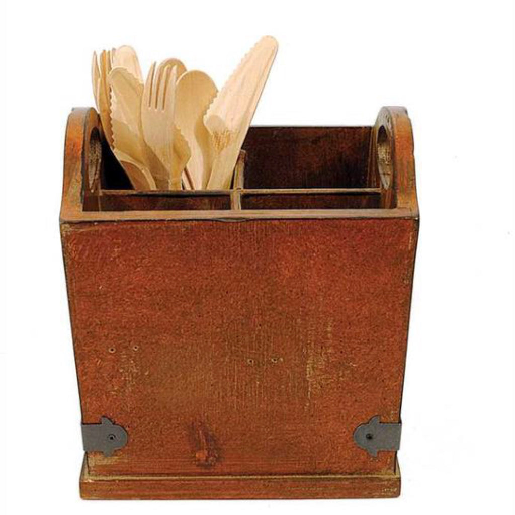 Wood & Metal Utensil Caddy