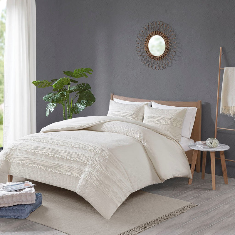 Arabella Seersucker Duvet Cover Set