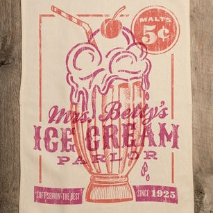 Mrs Betty's Ice Cream Parlor Kitchen Towel