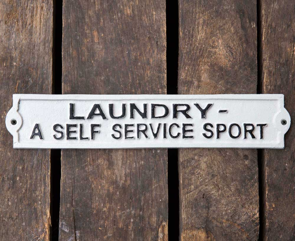 Self Service Laundry Sign