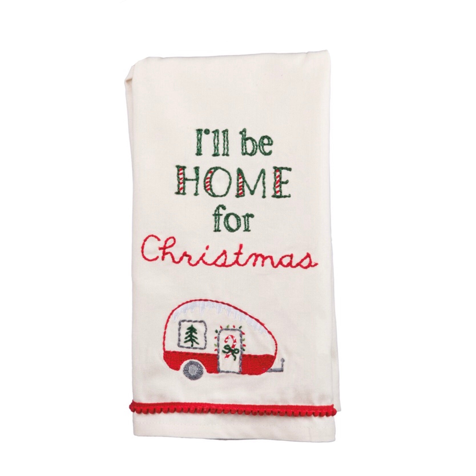I\'ll Be Home for Christmas Dish Towel – Shady Oaks Farm