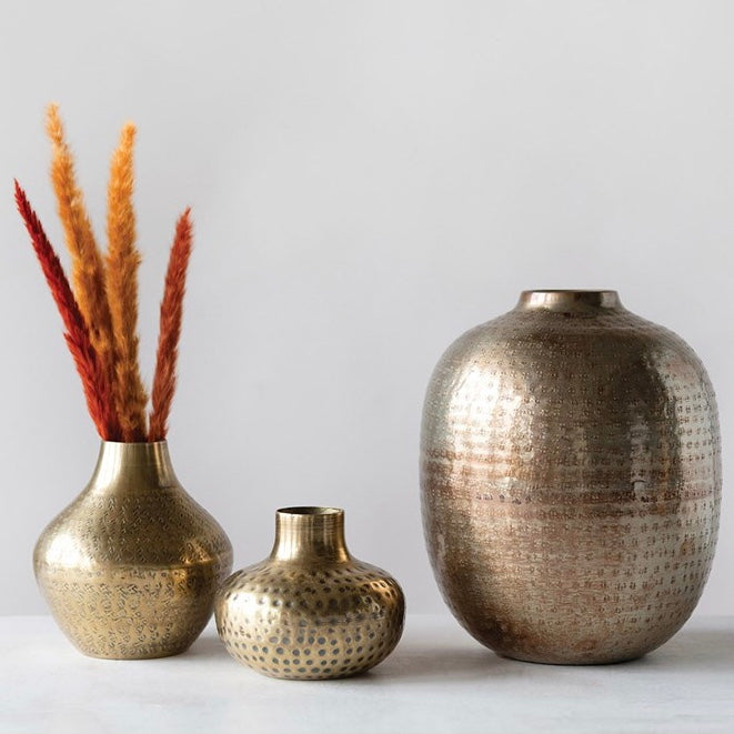 Antique Brass Vase Collection