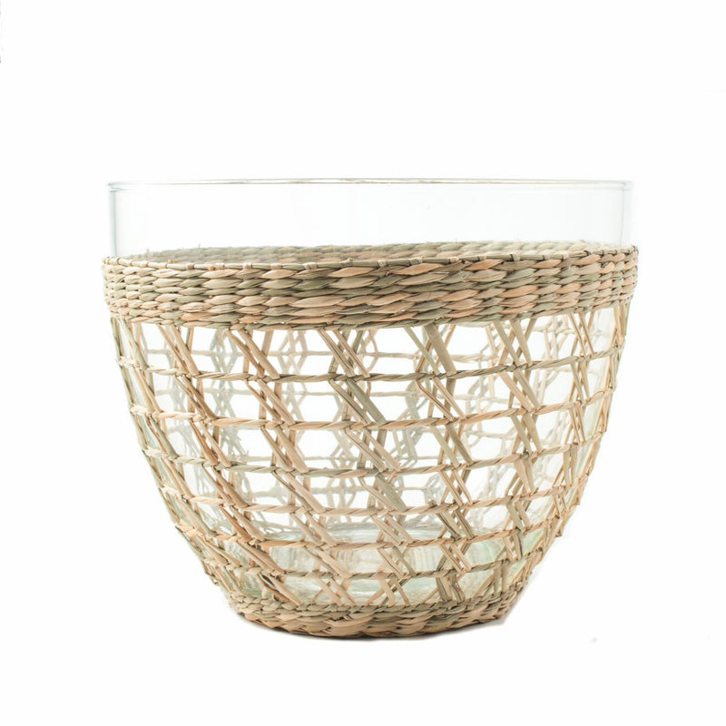 Seagrass Cage Salad Bowl