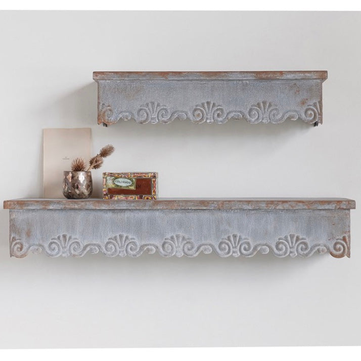 Scalloped Wall Shelf Set