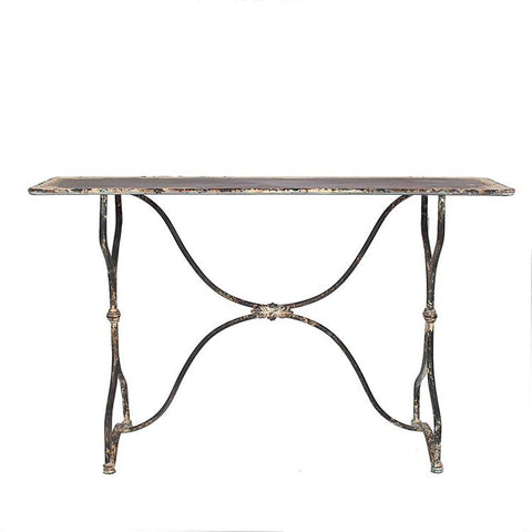 Highland Distressed Metal Table