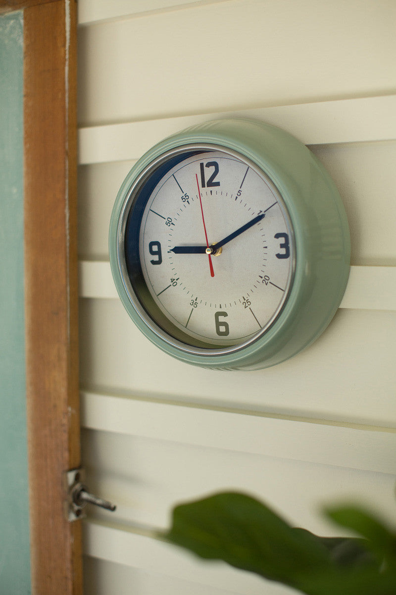 Light Green Wall Clock