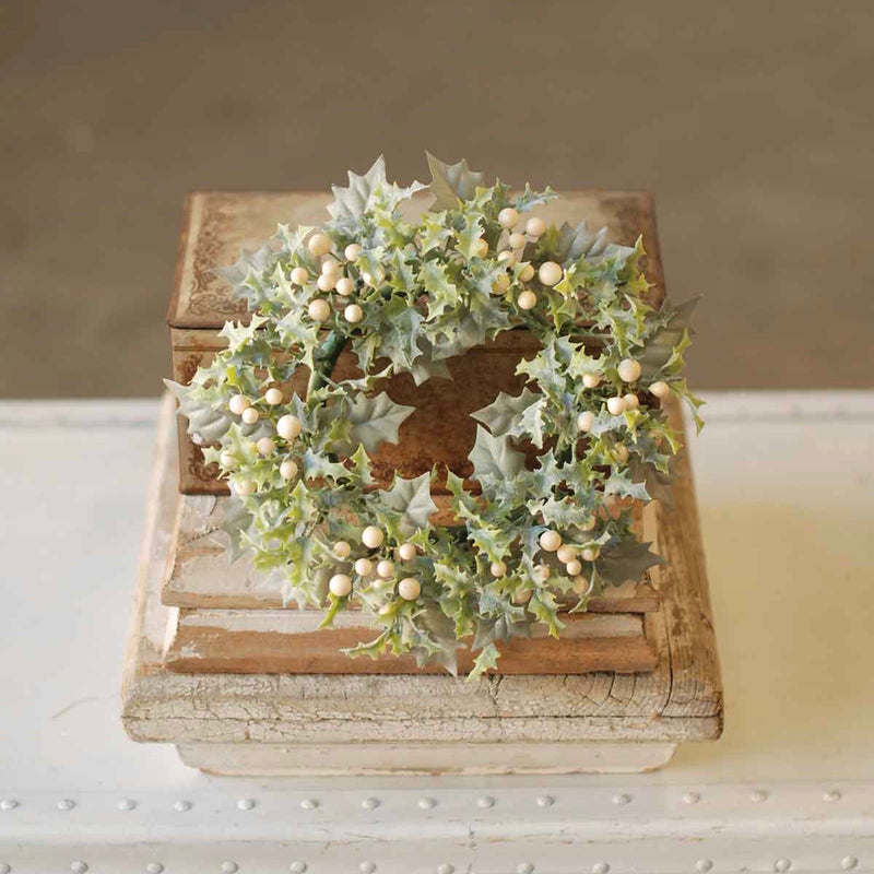 Winter Holly Candle Ring
