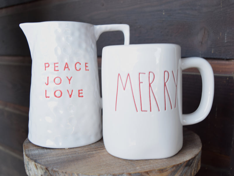 Peace Joy Love Pitcher