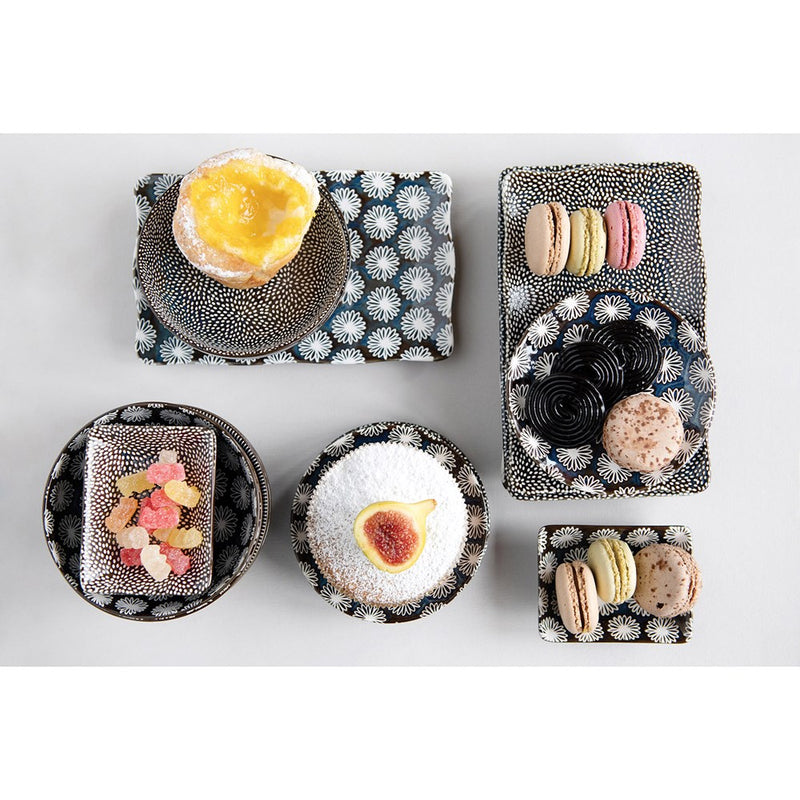 Midnight Stoneware Platter Set