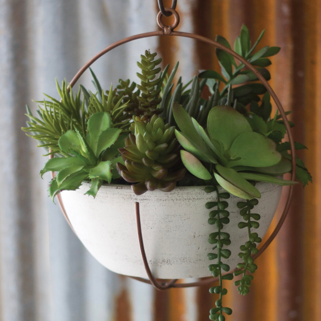 Hanging Clay Bowl Planter
