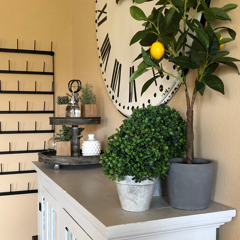 Faux Lemon Tree