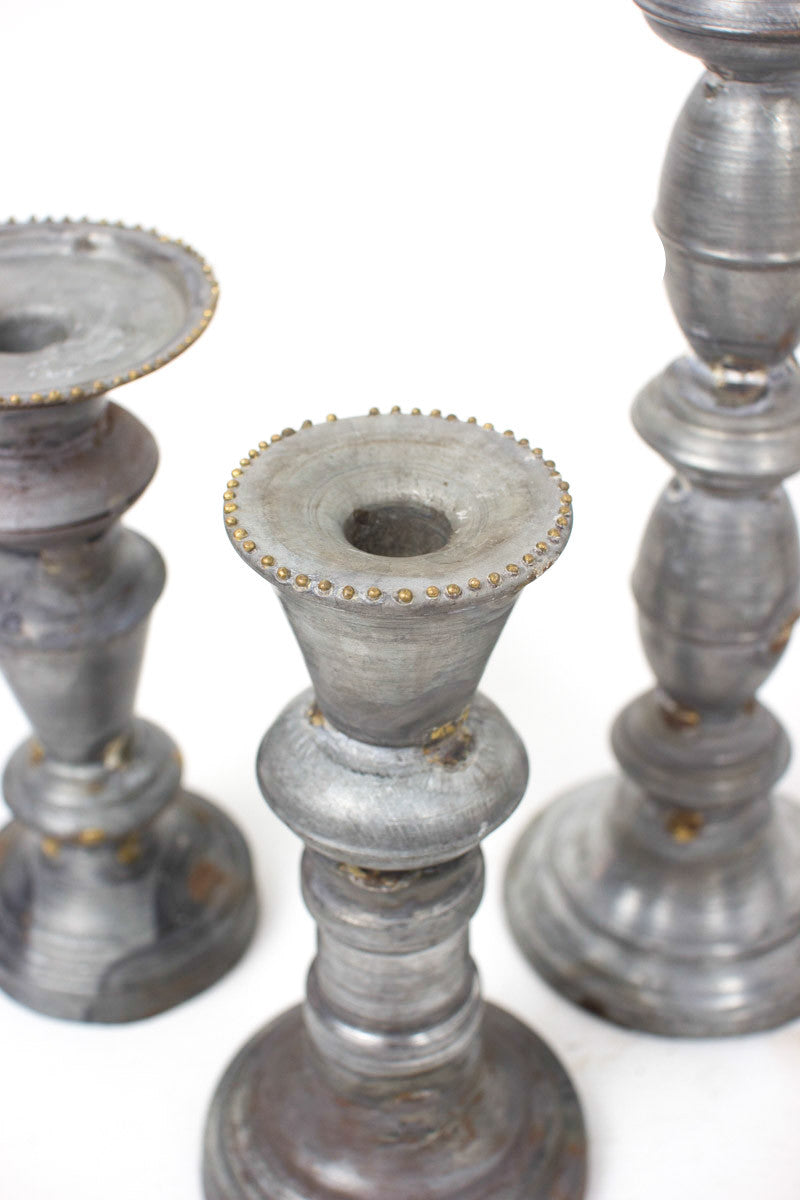 Zinc Candle Stick Set
