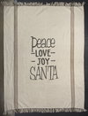 Peace Love Joy Santa Throw