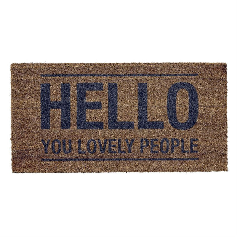 Hello Lovely People Doormat