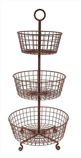 Wire Basket 3-Tier Tray