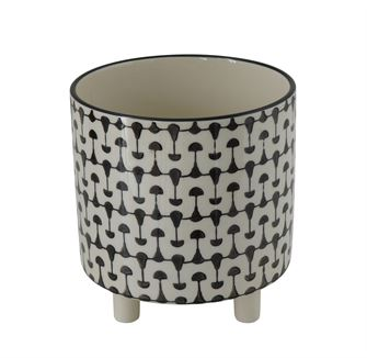 Graphic Black & White Planter
