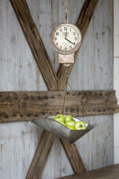Hanging Produce Scale Clock