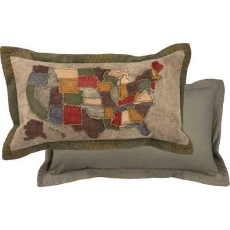 USA Map Pillow