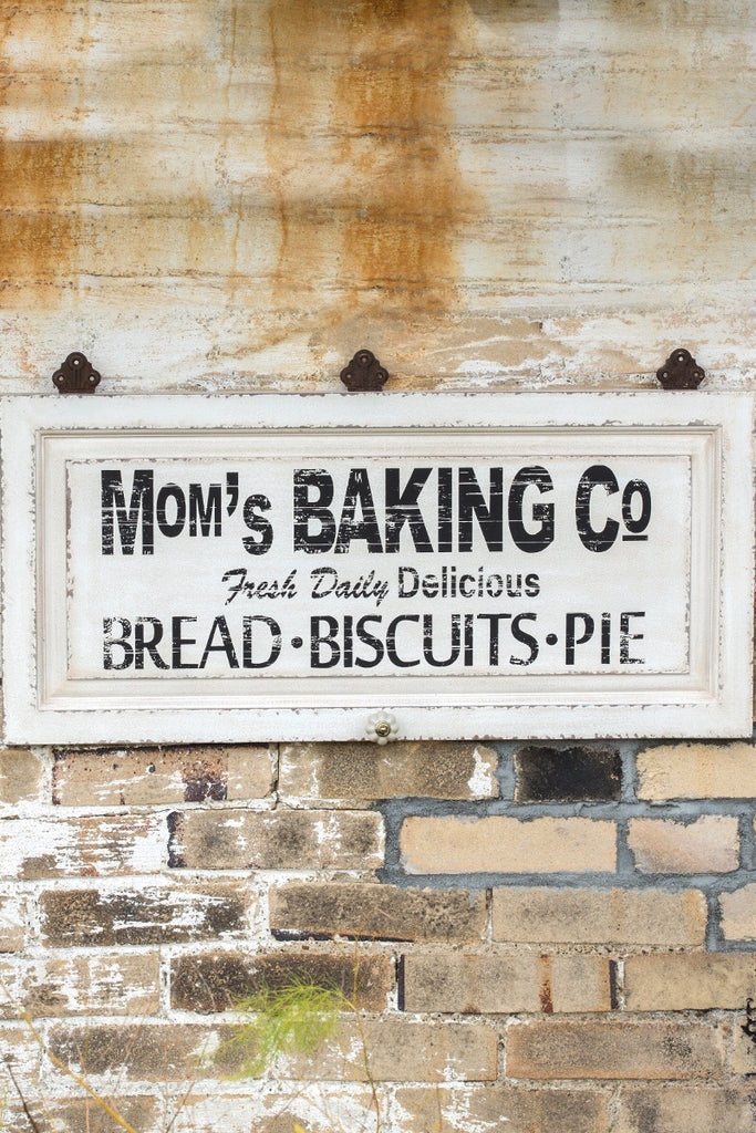 Mom's Baking Company Sign